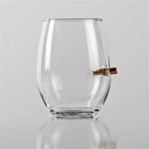 Cool Product Alert Benshot Bullet Embedded Glasses cool product alert benshot bullet rocks glass