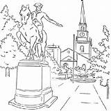 Coloring Paul Revere Pages Sculpture Anycoloring sketch template