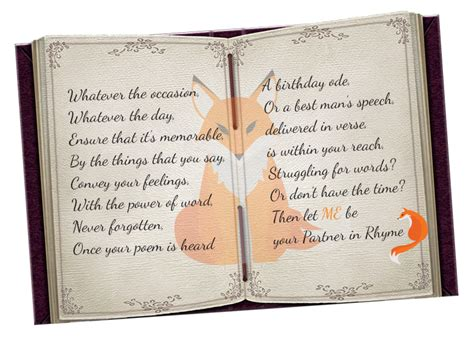 personalised poems ditty  occasions partner  rhyme
