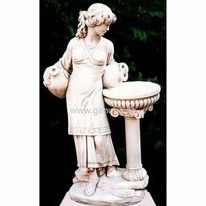 Weiße Dekosteine Garten : wei e garten figur steinguss statue frau am brunnen ~ Sanjose-hotels-ca.com Haus und Dekorationen