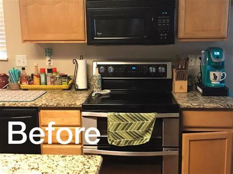 A Metallic Tile Stenciled Kitchen Backsplash