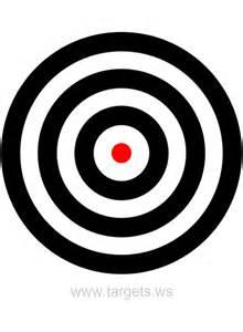 Black and White Bullseye Target