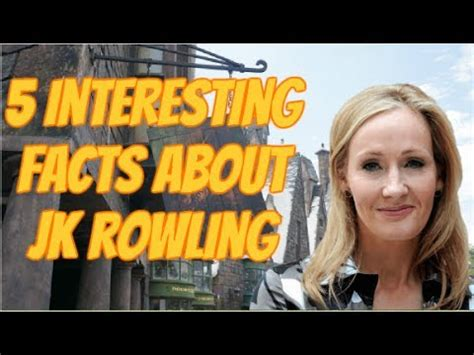 5 Interesting Facts About Jk Rowling Youtube