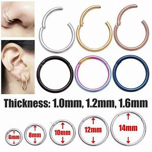 1pc Surgical Steel Hinge Septum Segment Nose Piercing Ear