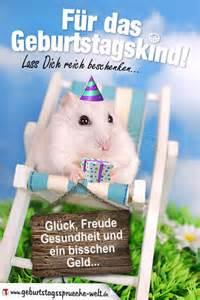 geburtstagsprüche geburtstagskarte mit lustigem hamster geburtstagsprüche