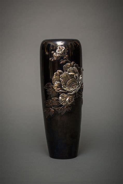 japanese shakudo vase naga antiques