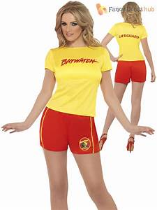 Ladies Baywatch Fancy Dress Beach Lifeguard Sexy Swimsuit Hen Party 90s Costume | eBay