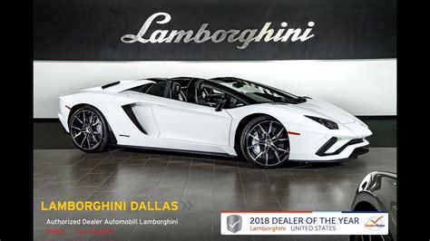 lamborghini aventador s roadster youtube 2018 lamborghini aventador s roadster bianco 18l0096 youtube