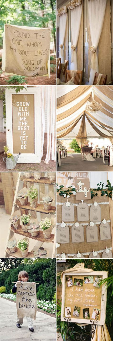 the most complete burlap rustic wedding ideas for your
