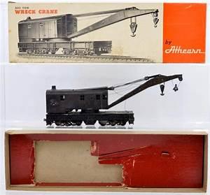 Vintage Athearn Die Cast 200 Ton Wreck Crane Kit Built Up In