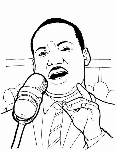Luther Martin King Coloring Jr Pages Printable