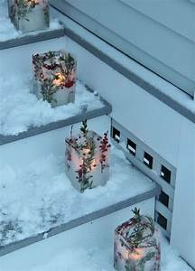 Windlichter Selber Machen : ber ideen zu weihnachtsdekoration f r drau en auf ~ Lizthompson.info Haus und Dekorationen
