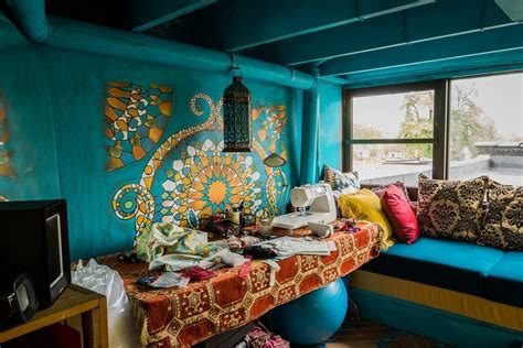Teal And Brown Rug by Magnificent Moroccan Lanterns Decorating Ideas