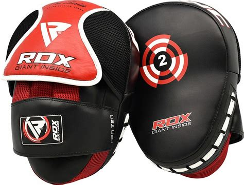 rdx boxing focus pads hook jab mitts mma punch bag
