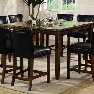 Table Bar But : telegraph marble look counter height pub table counter height tables ~ Teatrodelosmanantiales.com Idées de Décoration