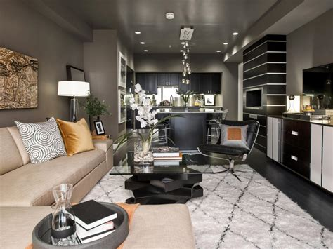 Grey Living Room Hgtv by Gray Living Room With Warm Accents Hgtv