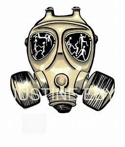 Gas Mask Drawing Print on Storenvy