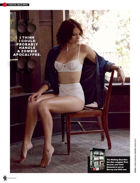 lauren cohan maxim magazine australia january  issue