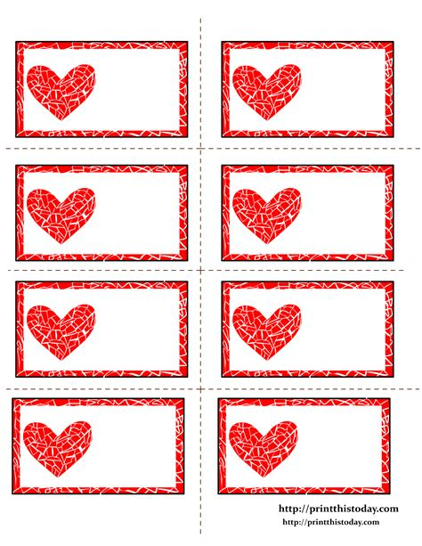 printable hearts labels