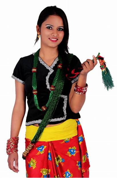 Nepali Traditional Culture Dresses Clothing Aarohi Clipart