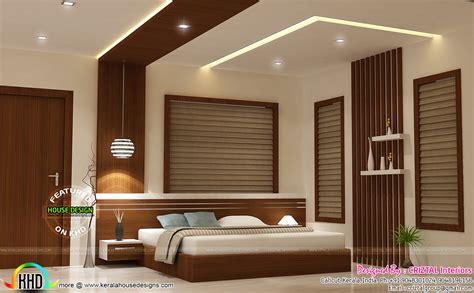 bedroom dining hall  living interior kerala home