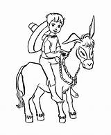 Donkey Coloring Pages Boy Farm Animal Riding Print Little Boys Animals Colouring Printable Sheet Drawing Honkingdonkey Colour Balaam Activity Popular sketch template