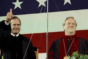 Looking Back  President George H W  Bush U2019s 1990 Commencement Visit