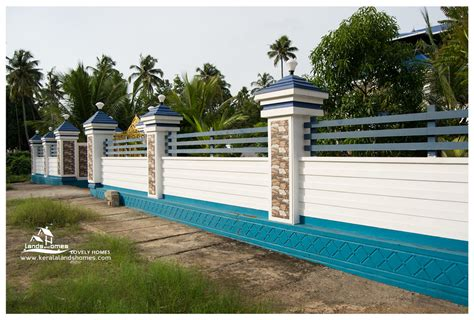 lovely kitchen furniture compound wall and gate designs kerala stylereal estate