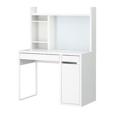 bureau micke blanc micke poste de travail blanc ikea