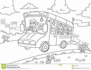 profilo dello scuolabus per il libro da colorare With audio line driver