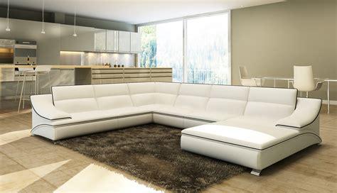 canapé d angle cuir blanc deco in canape d angle en cuir blanc et noir