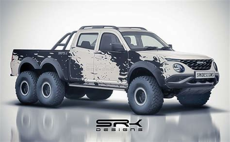 Tata Xenon 2019 by This Tata Xenon 6x6 Rendering Is Out Of S