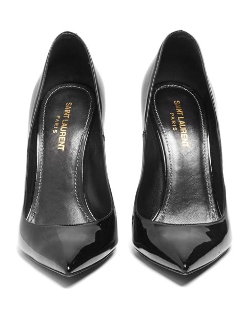 saint laurent opium logo heel patent leather pumps
