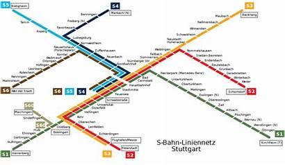 Stuttgart Metro Bahn Map Mapa Stadtbahn Karte