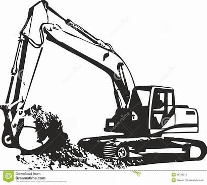 Excavator Clipart Tracks Excavators Clipground Illustrations