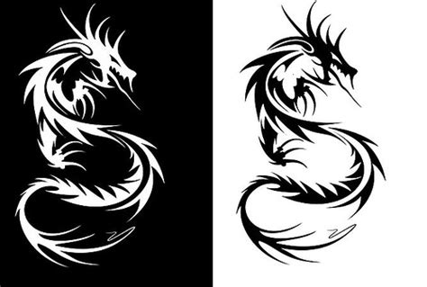 The Gallery For --> Dragon Black And White Tattoos