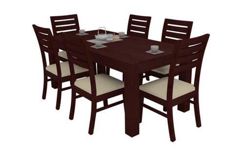 Alana Mahogany Dining Table Set 6 Seater (Teak Wood