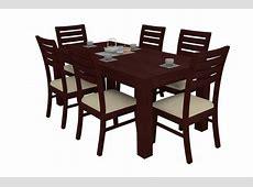 Alana Mahogany Dining Table Set 6 Seater Teak Wood