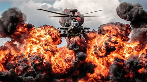 Picture Hd by Helicopter Apache Explosion Hd Desktop Wallpaper