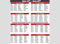 Download Fifa world cup 2018 schedule 2019 2018 Calendar