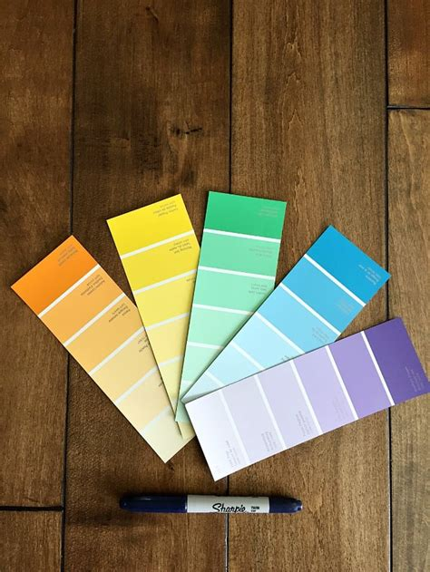 paint chip chore chart for