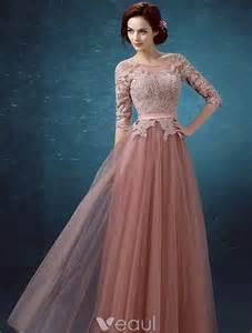 robe de mariã e avec manche dentelle robes de soirée pas cher 2016 encolure appliques de dentelle robe longue dos nu manches 1