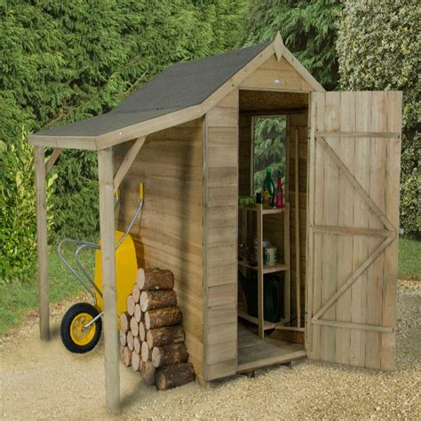 12x8 shed forest overlap apex shed pressure treated with shelter 6x4