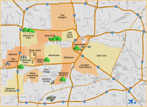 kirby houston map