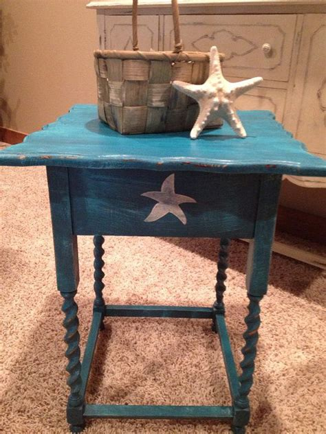 nautical end table beautiful antique side corner end table hand painted dark