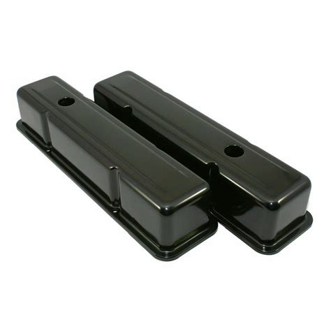 Steel Black Valve Covers Chevy Sbc Small