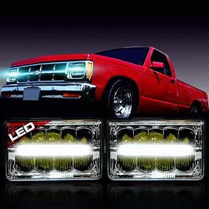 Led Headlight Headlamp Upgrade For Chevy S10 Sonoma Truck  2 Pack