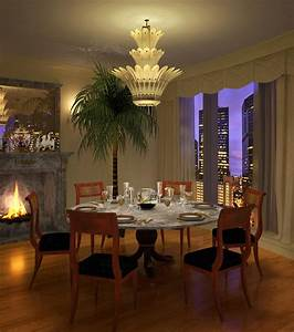 The, Beauty, Dining, Room, Chandeliers