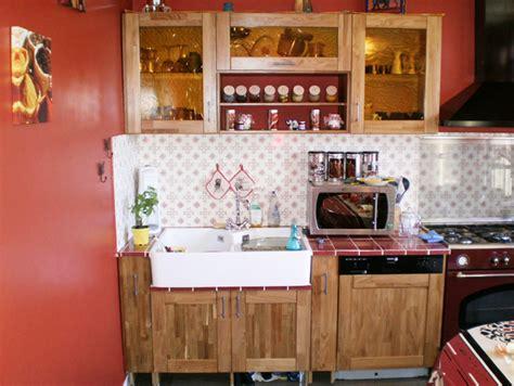 meuble cuisine teck meubles de cuisine en chêne rustique et teck le du bois