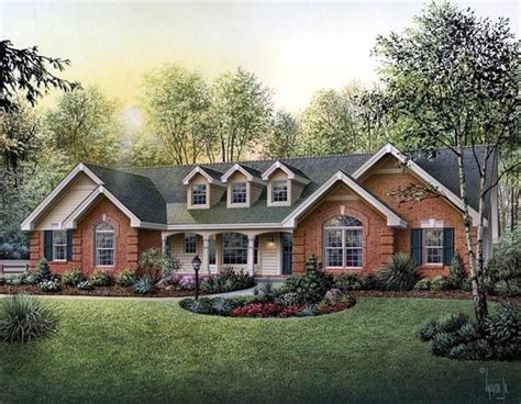 cape cod country ranch southern traditional house plan 87817 house plans wood mantle and